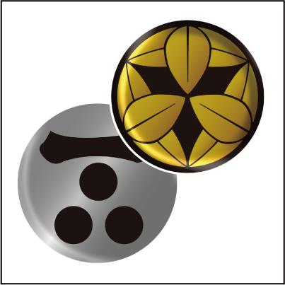 家紋ドーム(立体)丸形シール拡大2