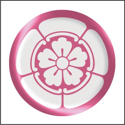 家紋ドーム(立体)丸形シール拡大写真