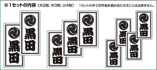 家紋入り千社札風シール(プチセット)セット説明2