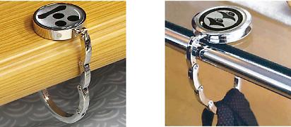 家紋バッグハンガー風雅S使用例2