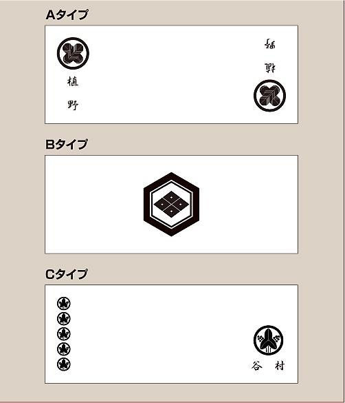 家紋入りフェイスタオルデザイン3