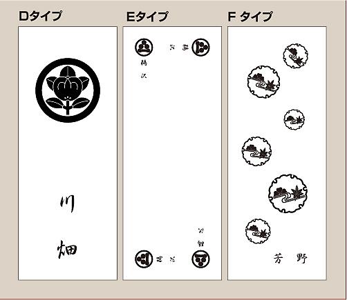 家紋入りフェイスタオルデザイン1