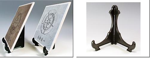 陶器製 家紋入り楯(STONE)説明1
