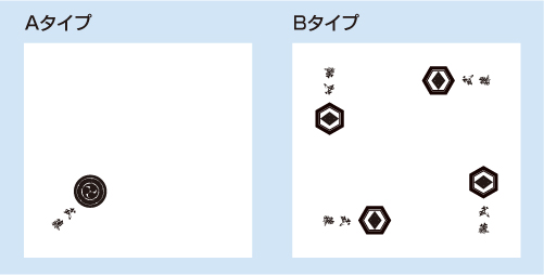 家紋入りハンドタオルデザイン5