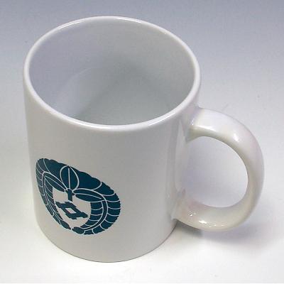 家紋マグカップ(暸)上からみたところ