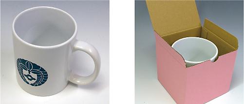 家紋マグカップ(暸)カップと箱