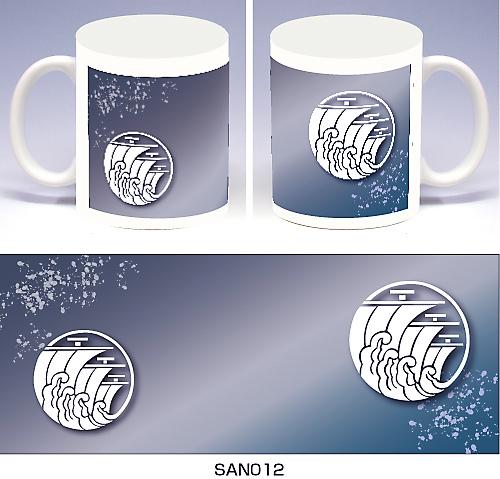 家紋マグカップ(燦)デザイン1