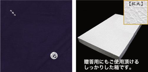 家紋入り風呂敷〈綿シャンタン〉説明