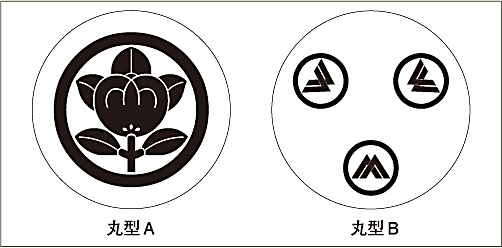 家紋コースター(縄墨)じょうぼくレイアウト2