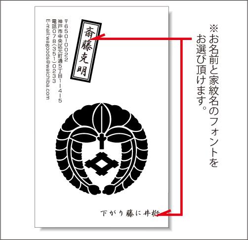 家紋名刺(T01)名入れ説明02