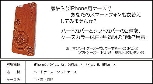 家紋入りiPhoneケース(WOOD)仕様