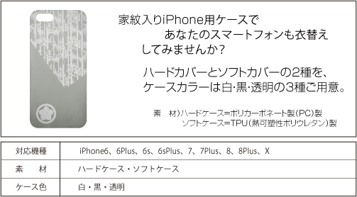 家紋入りiPhoneケース(古美)仕様