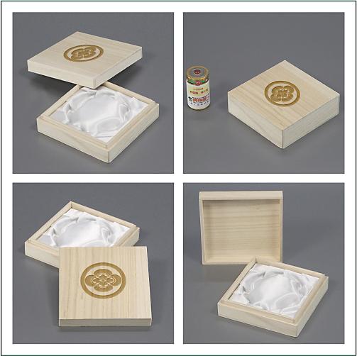 家紋入り念珠箱(正方形100各アングル