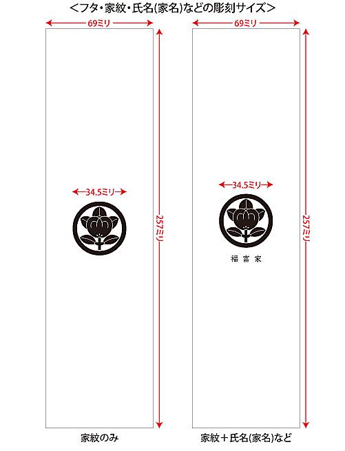 家紋入りネックレスケース24印字位置・サイズ説明1