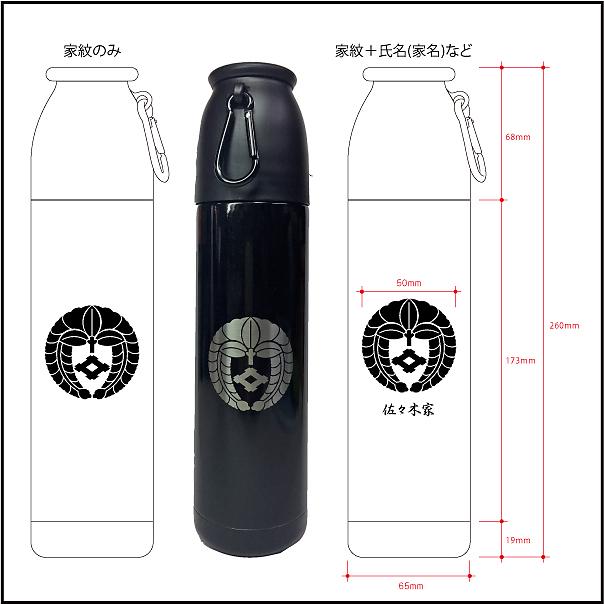 キャンピングサーモボトル500mlサイズ