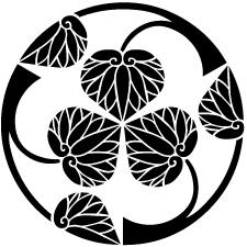 三つ割り立ち葵紋