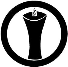 丸に一つ蝋燭紋