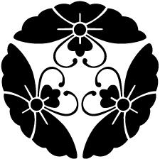 三つ寄せ花菱蝶紋