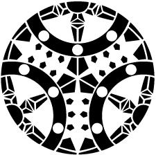 三つ割り輪宝紋