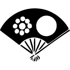 七本骨扇日の丸に九曜紋