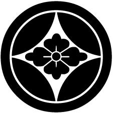 丸に七宝に花菱紋