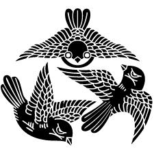飛び三羽雀紋