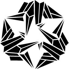 三つ折り鶴紋