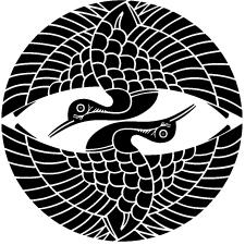 上下対い鶴紋