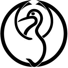 中陰光琳鶴の丸紋