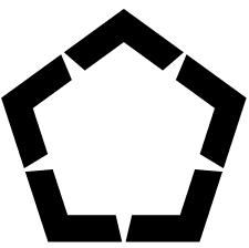 五角山形紋