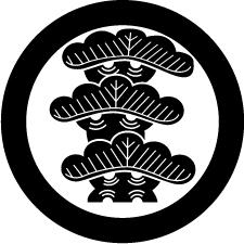 丸に左三階松紋