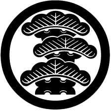 宮地嶽神社【福岡県】丸に右三階松