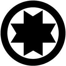丸に切り竹十字紋