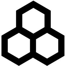 三つ持ち合い一重亀甲紋