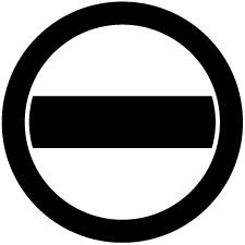 丸の内に一つ引き紋