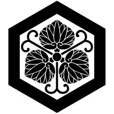 一重亀甲に蔓三つ葵紋