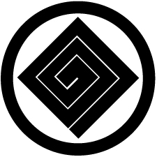 中輪に隅立て稲妻紋