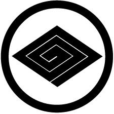 中輪に稲妻菱紋