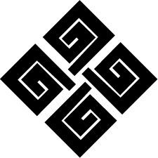 隅立て結び稲妻紋
