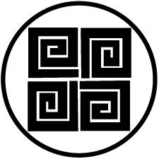 細輪に四つ稲妻紋