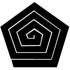 五角稲妻紋