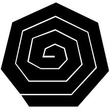 七角稲妻紋
