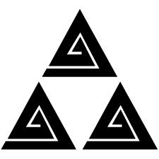 三つ鱗形稲妻紋