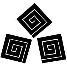 角合わせ三つ稲妻紋