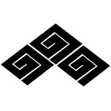 三つ盛り稲妻菱紋