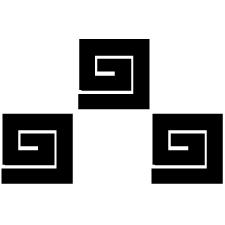 三つ石稲妻紋