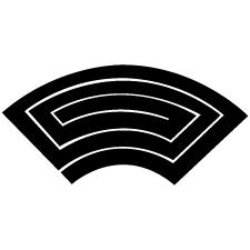 地紙形稲妻紋