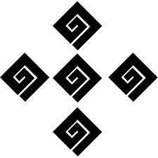 隅立て市松稲妻紋