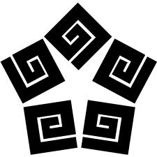 五つ変わり稲妻紋