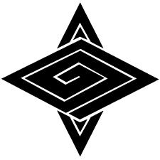 立ち合い稲妻菱紋